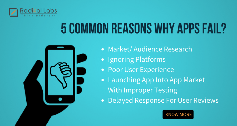 4 Common Reasons Why Apps Fail